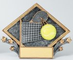 Resin Diamond Plate -Tennis Diamond Plate Resin Trophy Awards