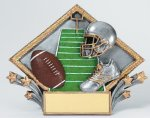 Resin Diamond Plate -Football Diamond Plate Resin Trophy Awards