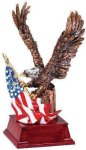 Eagle and Flag Copper With Cherry Base Eagle Awards