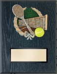 Tennis Resin Plaque Mount Award Economy Awards