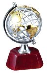 World Globe on Rosewood Base Employee Awards