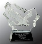 Crystal Carved Eagle Award Employee Awards