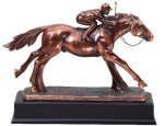 Resin Horse And Jockey Equestrian Trophy Awards