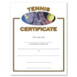Tennis Fill in the Blank Certificates
