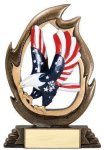 Flame Series -Eagle Flame Resin Trophy Awards