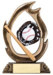 Flame Series -Baseball Flame Resin Trophy Awards