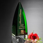 Culmination Emerald Award Green Optical Crystal Awards