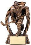 Antique Bronze and Gold Award -Hockey Male  Hockey Trophy Awards