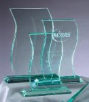 Premium Glass Wave Jade Glass Awards