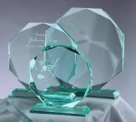 Premium Glass Octagon Jade Glass Awards