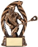 Antique Bronze and Gold Award -Lacrosse Male  Lacrosse Trophy Awards