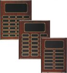 Rosewood Piano Finish Perpetual Plaque Monthly Perpetual Plaques