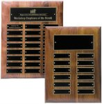Solid Walnut High Gloss Perpetual Plaque Monthly Perpetual Plaques
