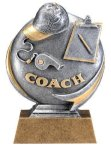 Motion X 3-D -Coach Motion X Action 3D Resin Trophy Awards