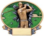 Motion X Oval -Golf Male  Motion X Oval Resin Trophy Awards