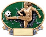 Motion X Oval -Soccer Female Motion X Oval Resin Trophy Awards