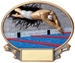 Motion X Oval -Swimming Male  Motion X Oval Resin Trophy Awards