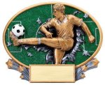 Motion X Oval -Soccer Male  Motion X Oval Resin Trophy Awards