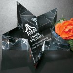 Slanted Star Paperweight Paperweight Crystal Awards