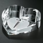 Slant Heart Paperweight Paperweight Crystal Awards