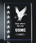 3 Dimensional Stars on Side Plaque Patriotic Awards