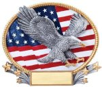 3D Oval -Eagle Patriotic Awards