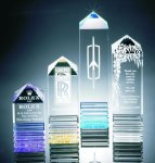 Fluted Pillar Acrylic Award Pyramid Awards