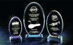 Beveled Oval Acrylic Award Sales Awards