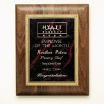 Walnut Plaque Sales Awards
