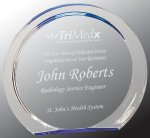 Blue Round Circle Halo Acrylic Award Sales Awards