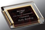 Acrylic Paper Weight Secretary Gift Awards