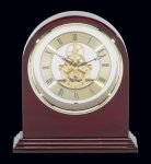 Plymouth Rosewood Piano Finish Desktop Clock Secretary Gift Awards