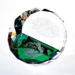 Duet Round Paperweight- Color Secretary Gift Awards