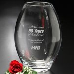 Clear Barrel Vase Secretary Gift Awards