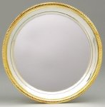Silver Plated Tray with Gold Border Secretary Gift Awards