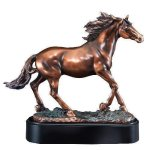 Stallion Signature Black Resin Trophy Awards