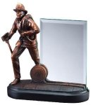 Fireman With Glass Signature Black Resin Trophy Awards