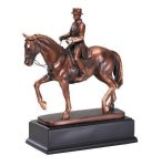 Dressage Signature Black Resin Trophy Awards