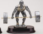 Weightlifting Dead Lift Signature Rosewood Resin Trophy Awards