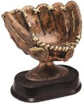 Softball Glove Signature Rosewood Resin Trophy Awards