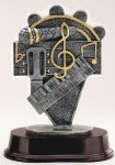 Music Note Signature Rosewood Resin Trophy Awards