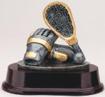Generic Lacrosse Signature Rosewood Resin Trophy Awards