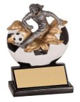 Xploding Resin -Soccer Female  Soccer Trophy Awards