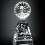 Golf Pyramid Sport Crystal Awards