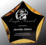 Black/Gold Luminary Star Acrylic Award Star Acrylic Awards