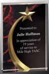 Red Marble Shooting Star Acrylic Star Awards
