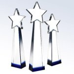 Blue Star Goddess Star Crystal Awards