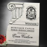 Chiseled Column Plaque Stone Plaque Awards