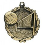 Wreath Volleyball Medals Volleyball Trophy Awards