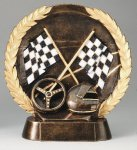 Resin Plate -Racing Wreath Mini Resin Trophy Awards